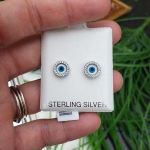 Round Evil Eye 925 Studs